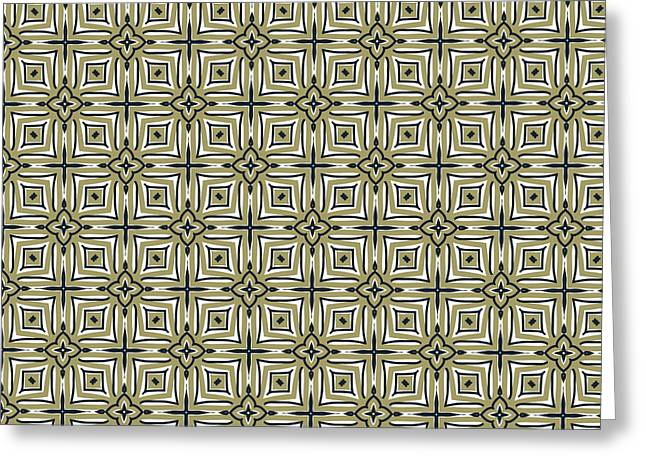 Golds Tapestries - Textiles Greeting Cards - Gold and Black Diamond Greeting Card by Savvycreative Designs