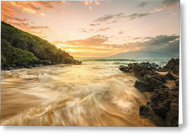 Quality Greeting Cards - Gold and Blue Greeting Card by Hawaii  Fine Art Photography