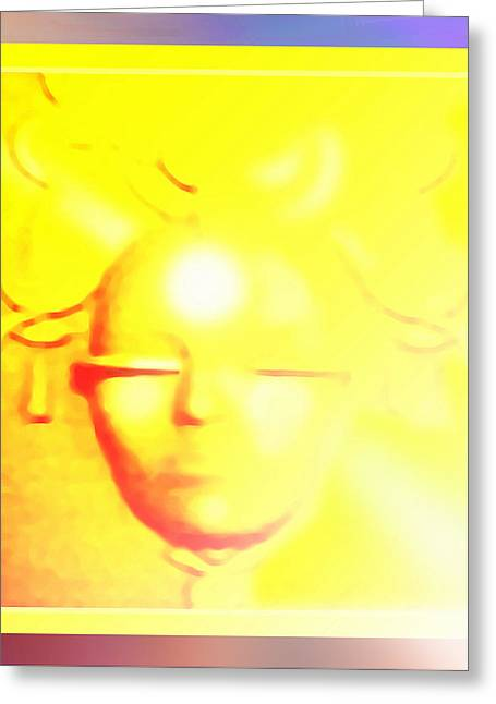 Gold Angel Greeting Card by Hartmut Jager