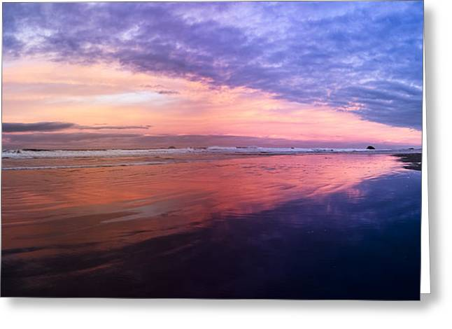 Oregon Pistol River Greeting Cards - Gold Beach Panorama Greeting Card by Debra and Dave Vanderlaan