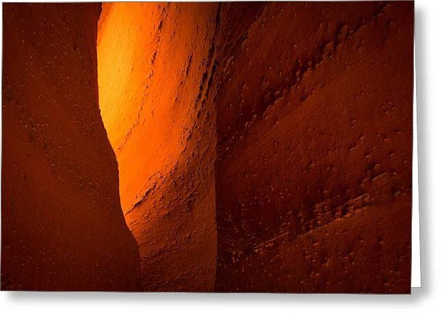 Narrow Canyons Greeting Cards - Gold Greeting Card by Chad Dutson