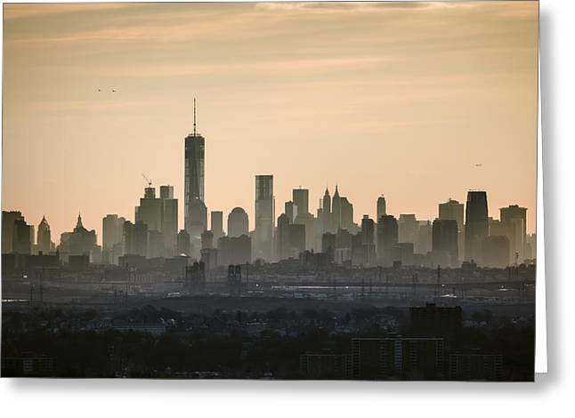Times Square Digital Art Greeting Cards - Gold City Greeting Card by Eduard Moldoveanu