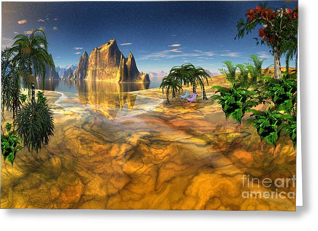Gold Mountains Mixed Media Greeting Cards - Gold Coast Dreamworld Greeting Card by Heinz G Mielke