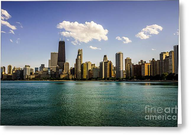 North Side Greeting Cards - Gold Coast Skyline in Chicago Greeting Card by Paul Velgos