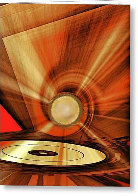 Award Digital Art Greeting Cards - Gold Disk Greeting Card by Eleni Mac Synodinos