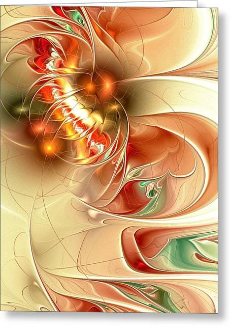 Gold Fish Greeting Cards - Gold Fish Greeting Card by Anastasiya Malakhova