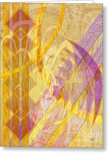 John Robert Beck Greeting Cards - Gold Fusion Greeting Card by John Robert Beck