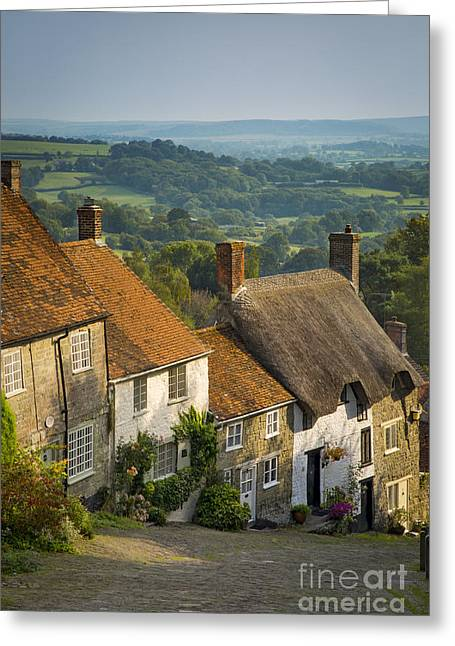 Historic Home Greeting Cards - Gold Hill Greeting Card by Brian Jannsen