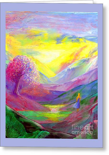 Gold Horizons Greeting Card by Jane Small