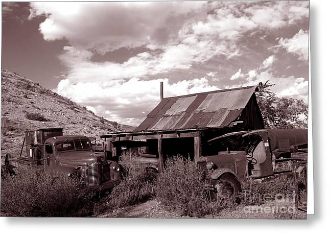 Gold King Mine near Jerome Greeting Card by Alex Cassels