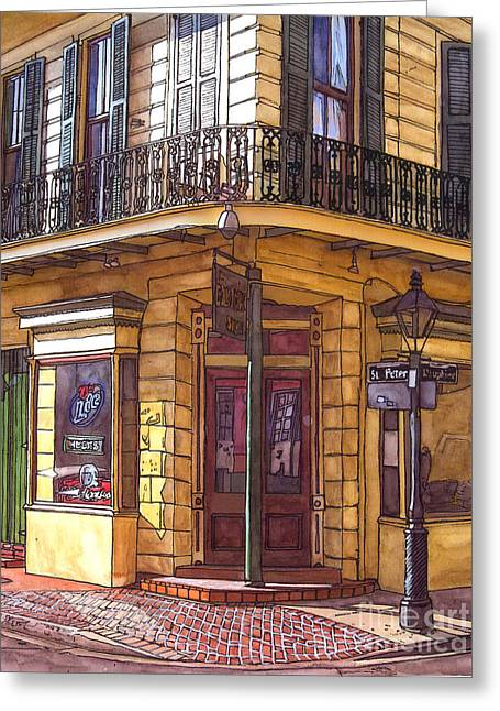 French Quarter Doors Greeting Cards - Gold Mine Saloon  Greeting Card by John Boles