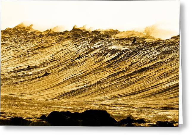 Surf Photography Greeting Cards - Gold Nugget Greeting Card by Sean Davey