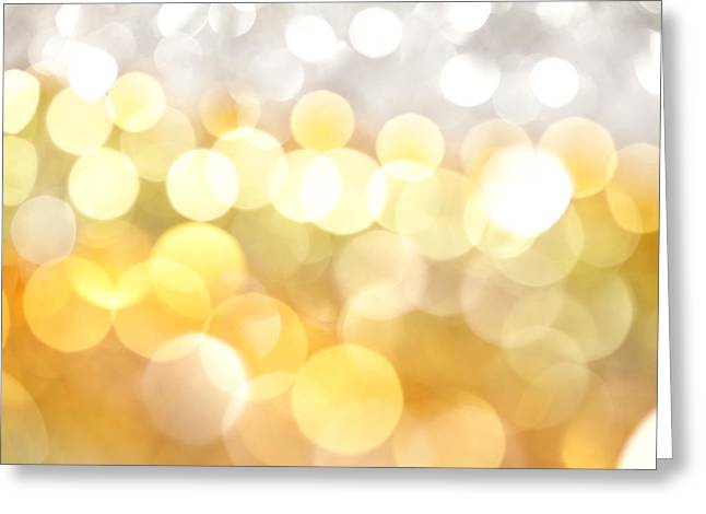 Gold On The Ceiling Greeting Card by Dazzle Zazz