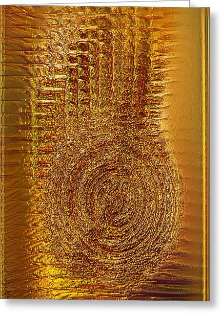 Subtle Colors Greeting Cards - Gold Panel 06 Greeting Card by Li   van Saathoff