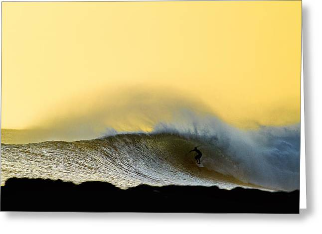 Surfing Art Greeting Cards - Gold Shack Greeting Card by Sean Davey