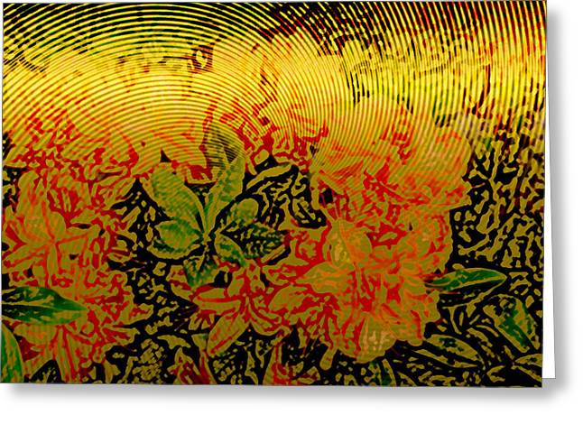 Gold Sheet Floral 3 Greeting Card by Patricia Keith