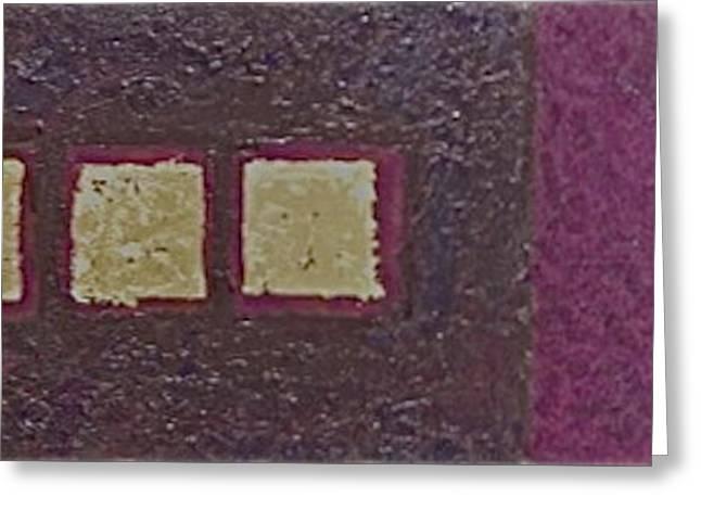 Gold Squares Greeting Card by Jim Ellis