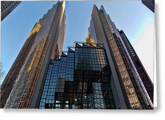 Architecture Greeting Cards - Gold Towers Greeting Card by Nicky Jameson