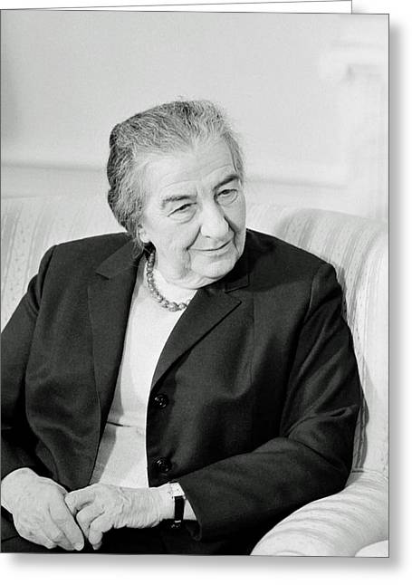Golda Meir 1973 Greeting Card by Mountain Dreams