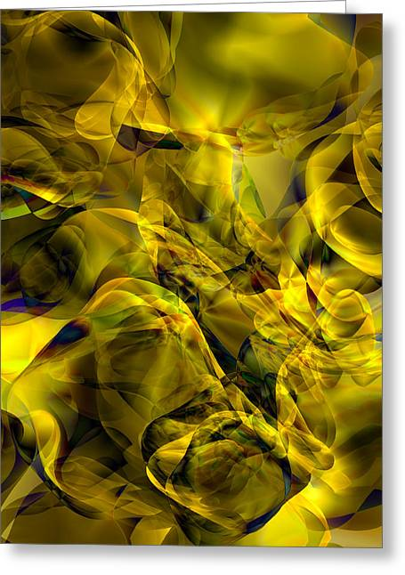 Abyss Greeting Cards - Golden Abyss Greeting Card by Kurt Van Wagner