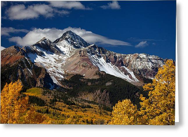 Colorado Mountain Prints Greeting Cards - Golden Afternoon Greeting Card by Darren  White