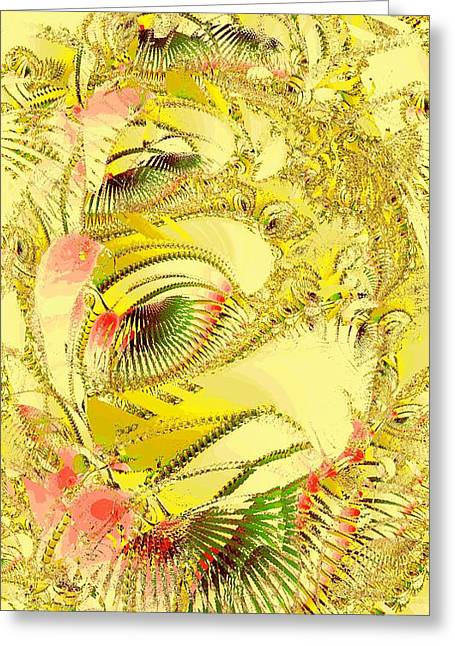 Poster Graphics Greeting Cards - Golden Greeting Card by Anastasiya Malakhova