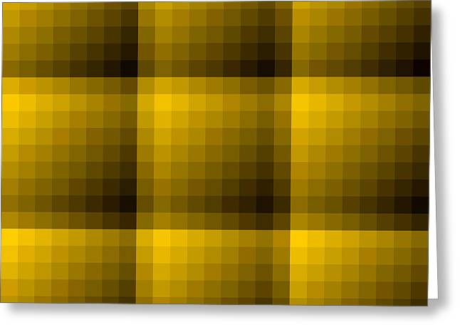 Art Websites Greeting Cards - Golden and Dark Brown Texture Background Greeting Card by Valentino Visentini