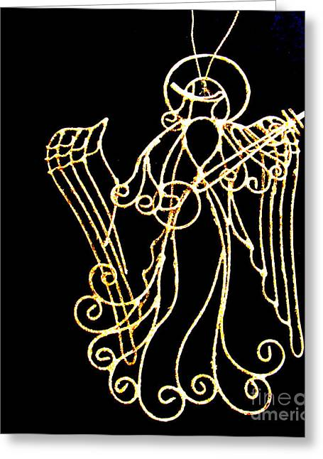Star Of Bethlehem Greeting Cards - Golden Angel Greeting Card by Tina M Wenger