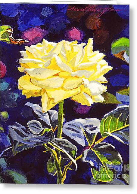 Yellow Roses Greeting Cards - Golden Beauty Greeting Card by David Lloyd Glover