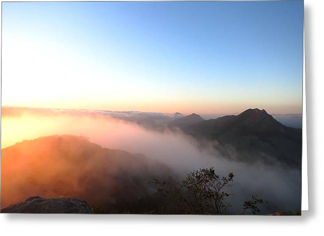 Bishops Peak Greeting Cards - Golden Blanket Greeting Card by Paul Foutz