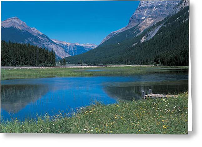 Little Lakes Valley Greeting Cards - Golden British Columbia Canada Greeting Card by Panoramic Images