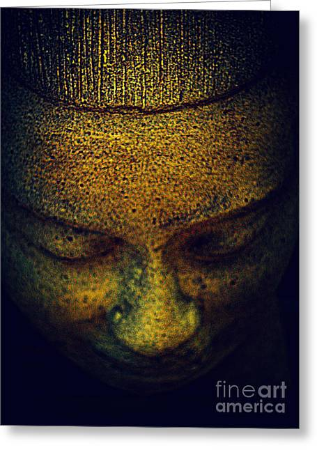 Golden Buddha Greeting Card by Susanne Van Hulst