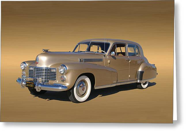 1941 Movies Greeting Cards - Golden Cadillac 1941 Fleetwood Greeting Card by Jack Pumphrey