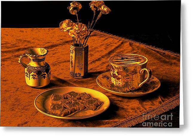 Davis Cup Greeting Cards - Golden Cappuccino Greeting Card by Donald Davis