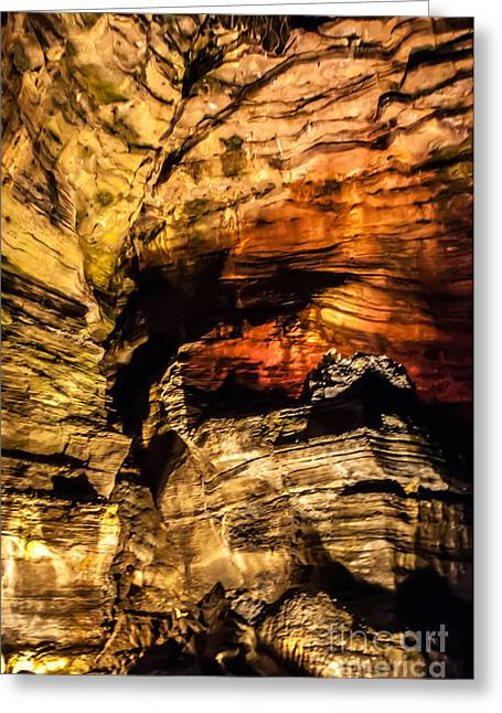 Subterranean Greeting Cards - Golden Caverns Greeting Card by Anthony Sacco