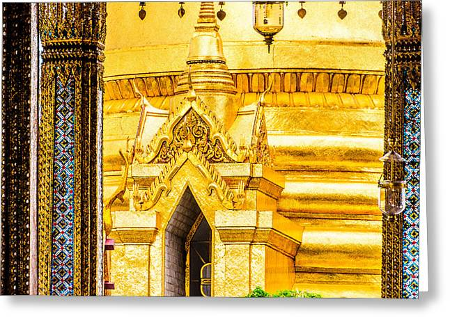 Asien Greeting Cards - Golden Chedi - Temple of the Emerald Buddha Greeting Card by Colin Utz