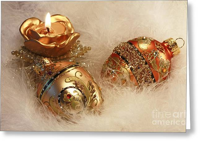 Shelley Myke Greeting Cards - Golden Christmas Moments Greeting Card by Inspired Nature Photography By Shelley Myke