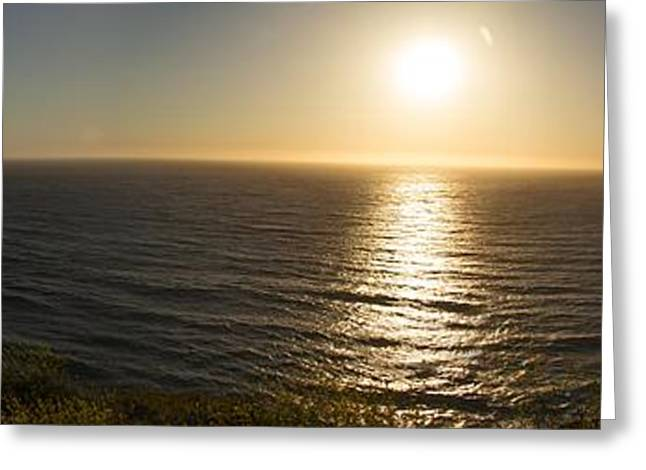Big Sur California Greeting Cards - Golden Coast Greeting Card by Savannah LeJeune