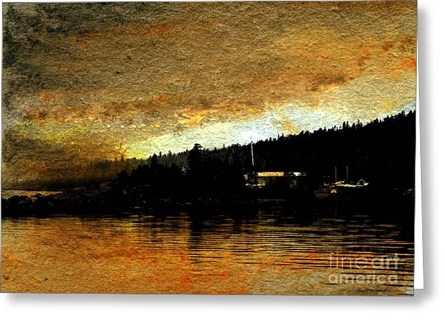 Masts Pastels Greeting Cards - Golden Cove Greeting Card by R Kyllo