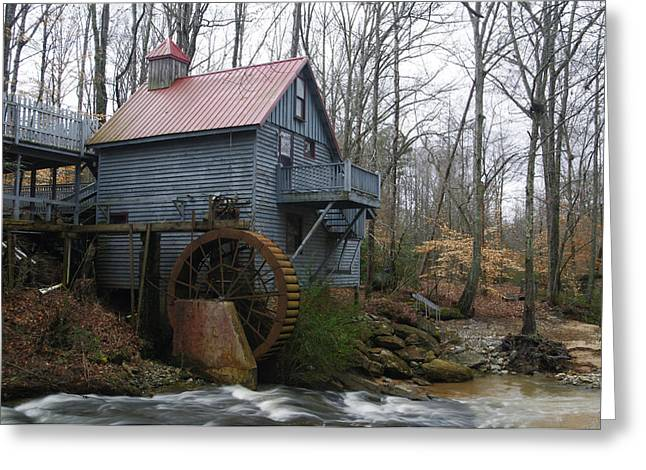 Grist Mill Greeting Cards - Golden Creek Mill Greeting Card by Jerry Mann