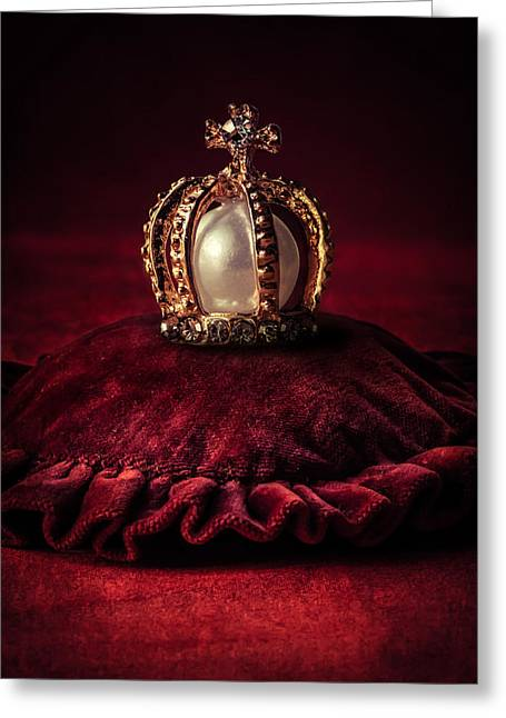 Cushion Greeting Cards - Golden crown Greeting Card by Jaroslaw Blaminsky