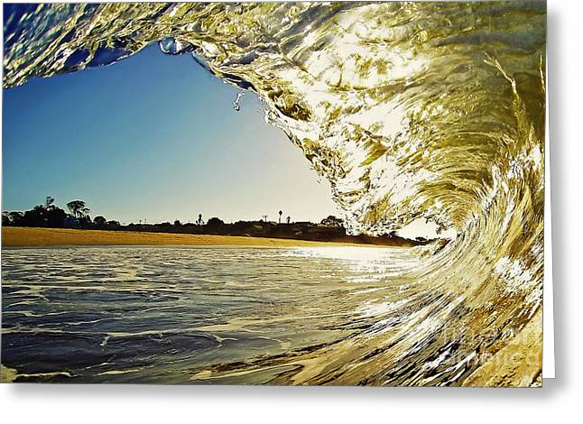 Shorebreak Greeting Cards - Golden Curtain Greeting Card by Paul Topp