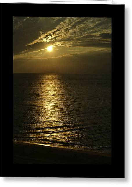 Golden Greeting Card by Debra Bowers