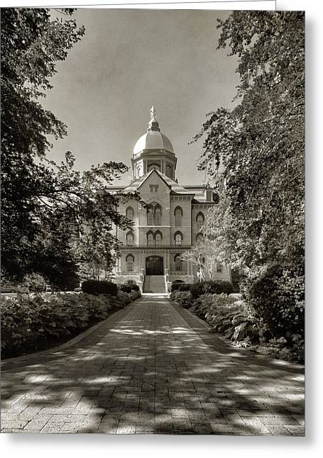 Scholarship Greeting Cards - Golden Dome At Notre Dame University Greeting Card by Dan Sproul