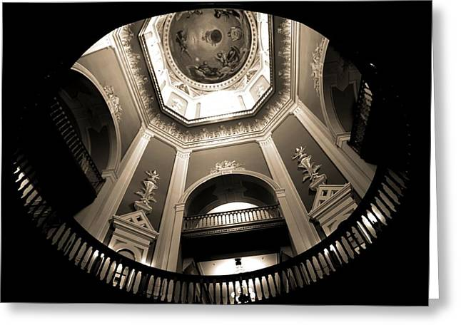 Notre Dame Greeting Cards - Golden Dome Ceiling Greeting Card by Dan Sproul