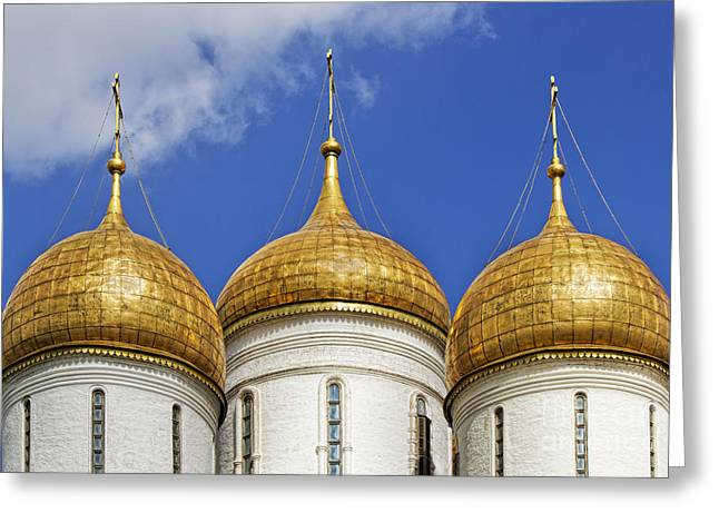 Cupola Greeting Cards - Golden Domes Greeting Card by Elena Nosyreva