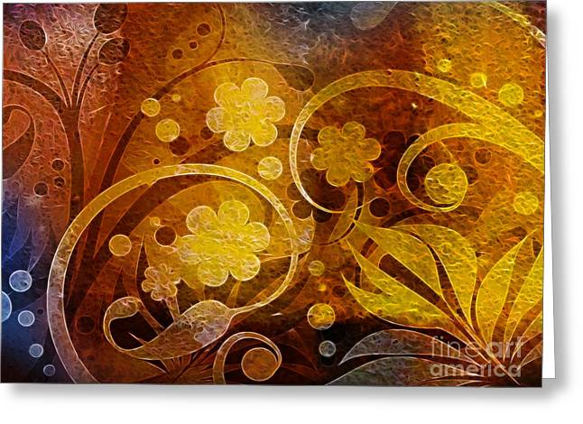 Meditative Greeting Cards - Golden Dreams Greeting Card by Lutz Baar