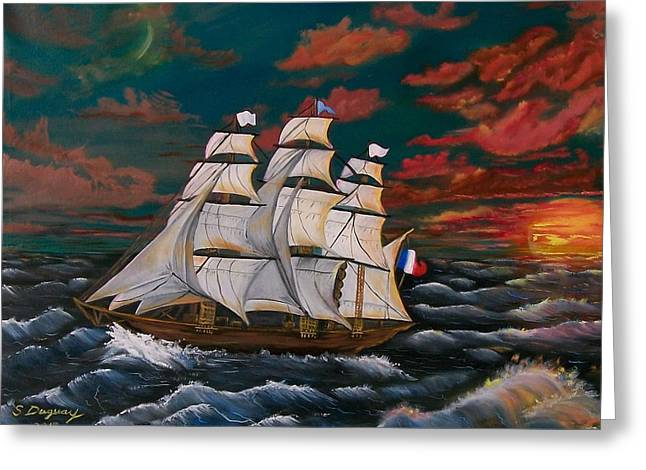 Historic Ship Greeting Cards - Golden Era of Sail Greeting Card by Sharon Duguay