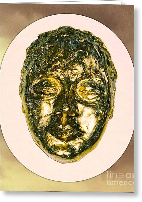 Style Sculptures Greeting Cards - Golden Face from Degas Dancer Greeting Card by Joan-Violet Stretch