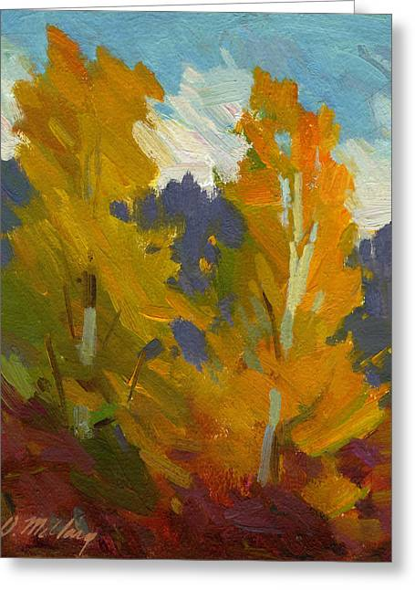 Golden Greeting Cards - Golden Fall Greeting Card by Diane McClary